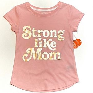 BNWT Wonder Nation Strong Mom Graphic Tee XS 4-5